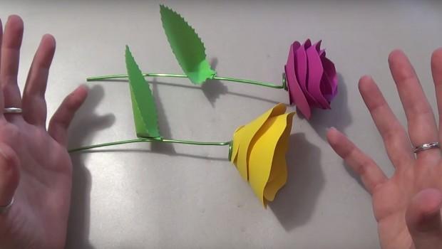 Mazzo di Rose di Carta