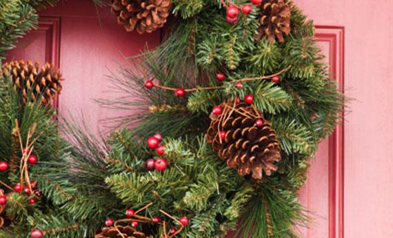 Ghirlande natalizie home made blog agenzia stella cadente - Ghirlande per porte natalizie ...